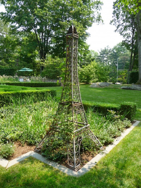 Eiffel Tower Wrought Iron Topiary Trellis 64""