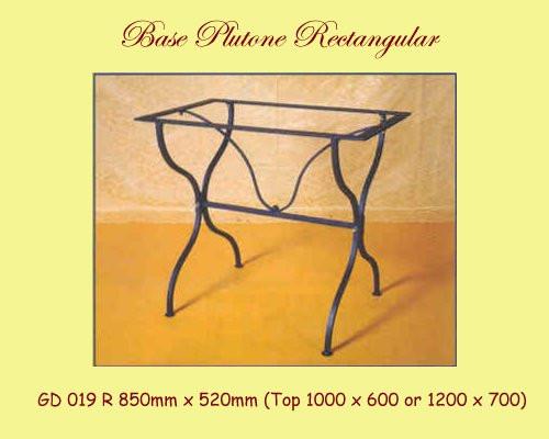 Plutone Rectangular Wrought Iron Base - multiple sizes, shapes available