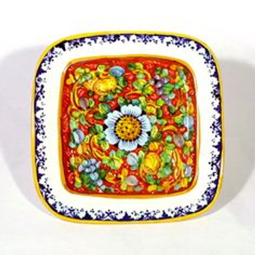 Tuscan Red Square Plate