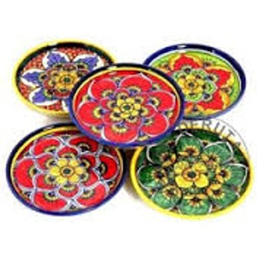 Italian Ceramic Coasters Set of 4