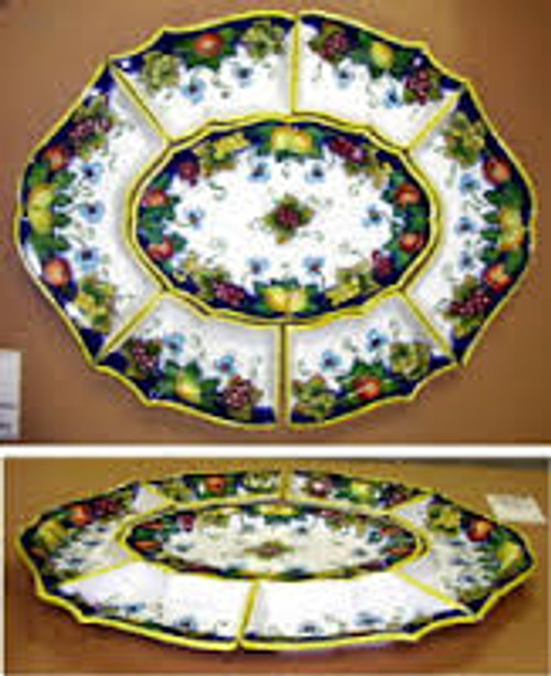 Antipastiera Large Modular Snack Tray - multiple designs