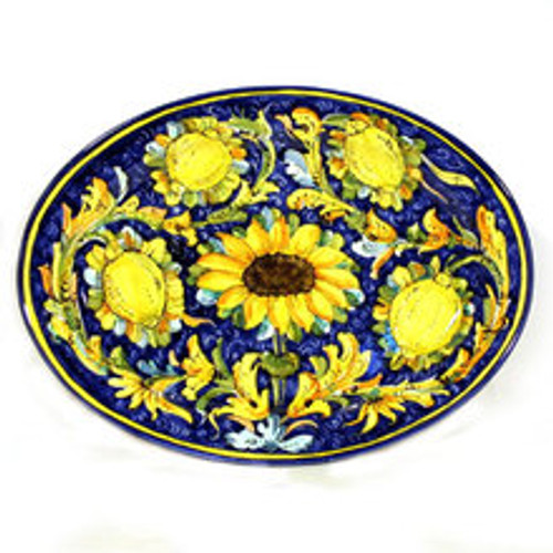 Sunflowers Lemon Montelupo Platter