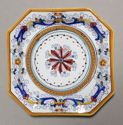 """Octagon Italian Ceramic Plate 12"""" - Many designs to choose from"""
