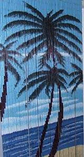 Three Palm Trees Bamboo Beaded Curtain
