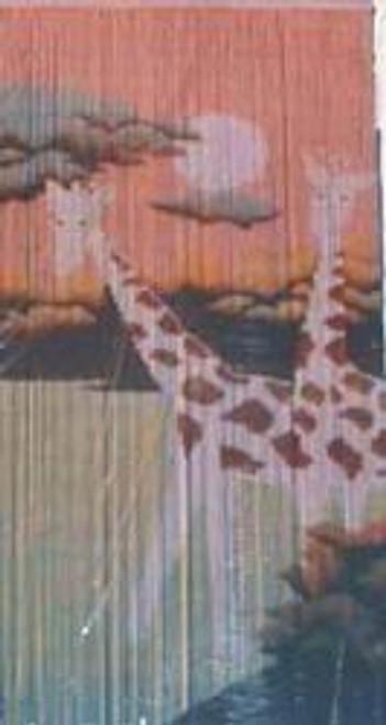 Giraffes Bamboo Beaded Curtain