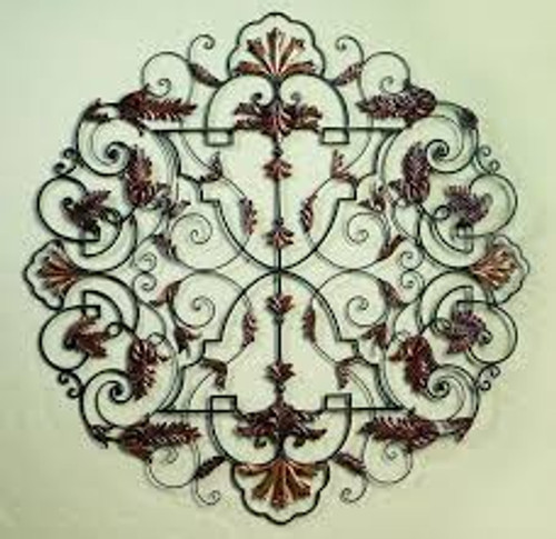 """Leaf Accent Medallion Wall Grille - 50""""d"""