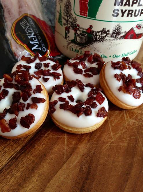 Vermont Maple & Maple Bacon Mini Donuts - One Dozen