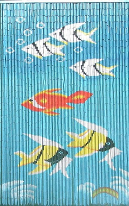 Fishes Bamboo Beaded Curtain