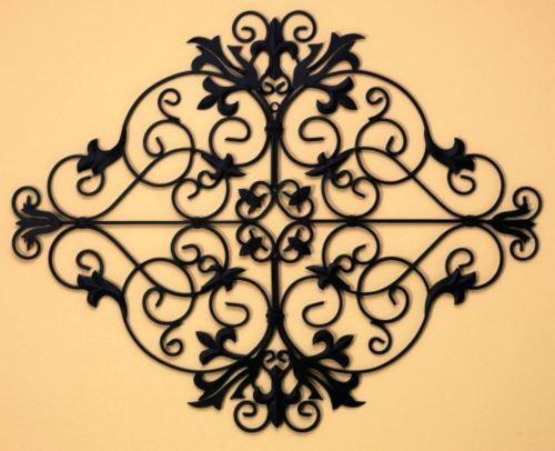 Tuscan Iron Metal Fleur De Lis Wall Grille