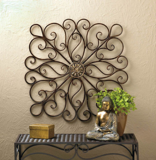 Iron Square Scrolled Wall Decor