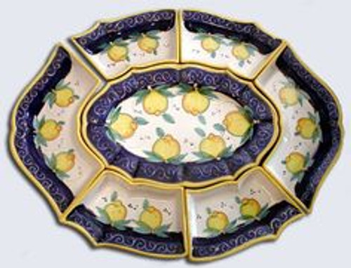 Antipastieria Italian Ceramic Platter - many designs to choose from