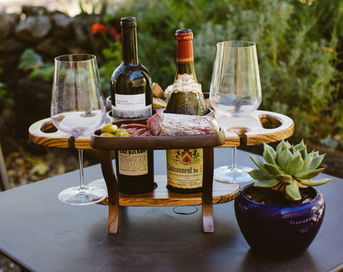 Wood Wine Carrier / Wine Caddy / Wine Bottle Holder