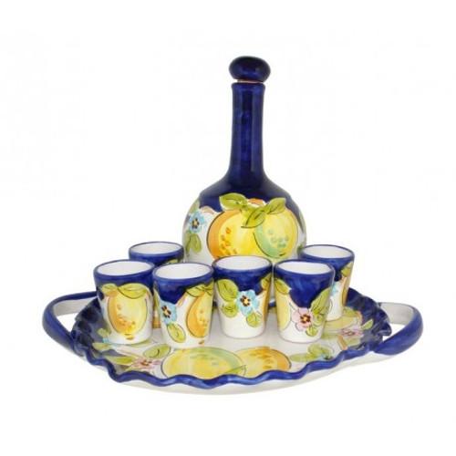 Limone Limoncello Carafe Tray Set