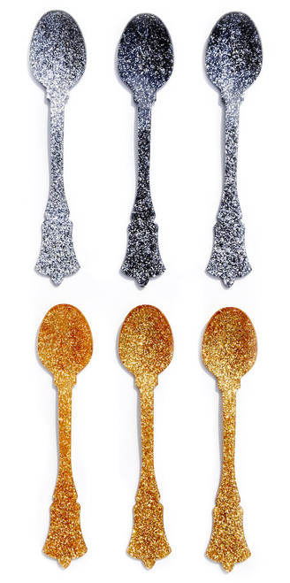 Glitter Teaspoon Set of 6
