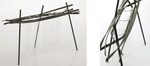 Agora Metal Stand w/ Hanging Tubes - Set of 2