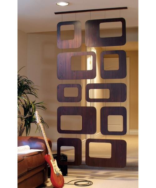 Walnut Veneer Hanging Room Divider