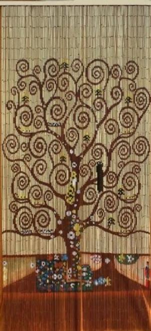 Tree of Life Wooden Door Beaded Curtain Strands on