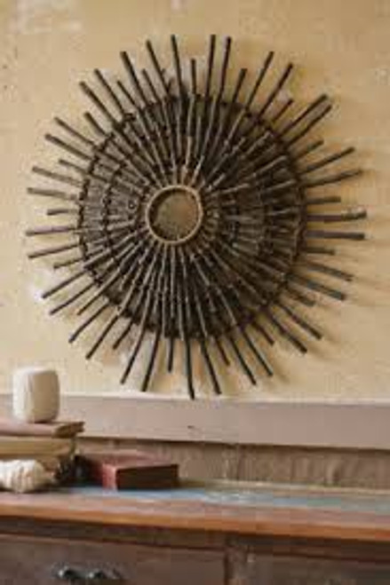 Black Twig Sunburst Wall Decor