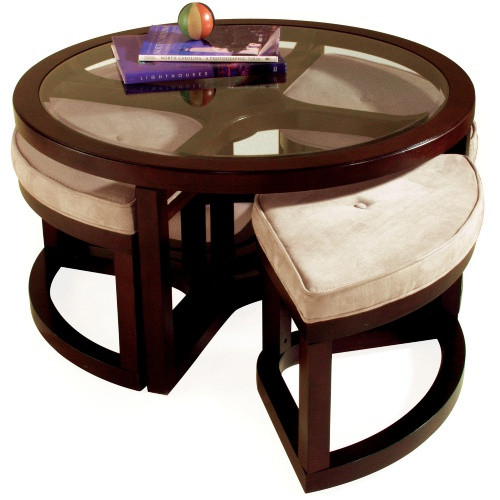 Round Coffee Table With 4 Chairs 1