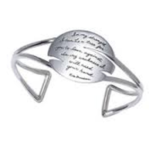Cuff Bracelet - In my strength I can be a tree for you to lean against. In my weakness, I will need your hand. ~Rita Freedman