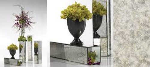 Antique Mirror Columns works as a reversible planter, multiple sizes
