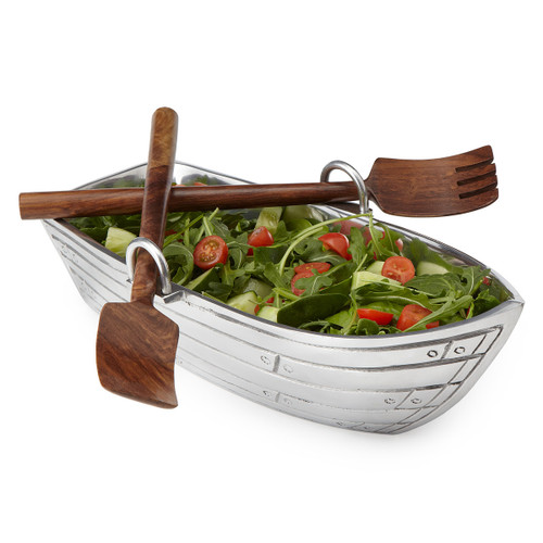 Boat Salad Bowl Server Set
