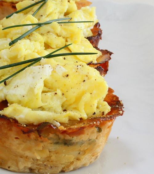 Potato Gratin Scrambled Egg Muffins - (Free Recipe below)