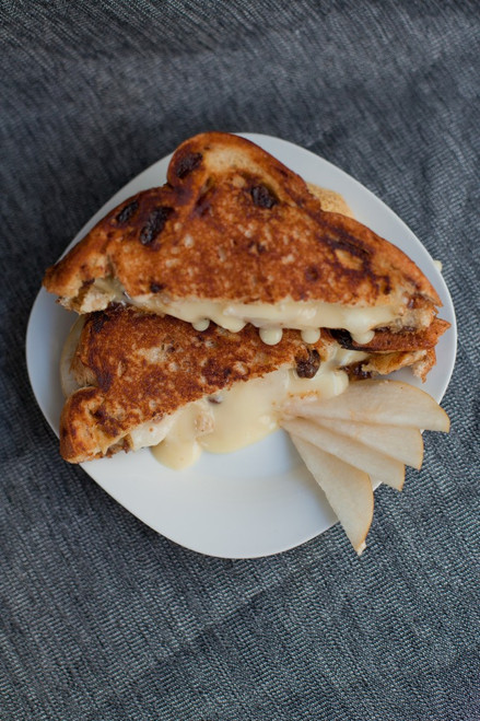 Brie & Pear Grilled Cheese Sandwich - (Free Recipe below)