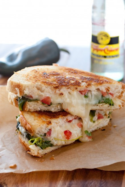 Chile Relleno Grilled Cheese Sandwich - (Free Recipe below)