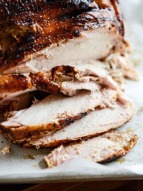 Applewood Smoked Turkey Breast with Cider Bourbon Gravy - (Free Recipe below)