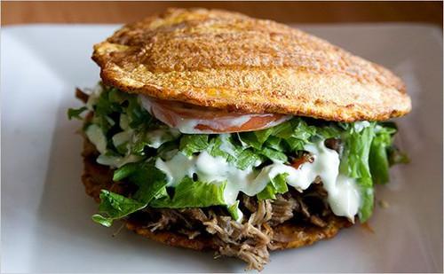 Jibarito Plantain Steak Sandwich - (Free Recipe below)