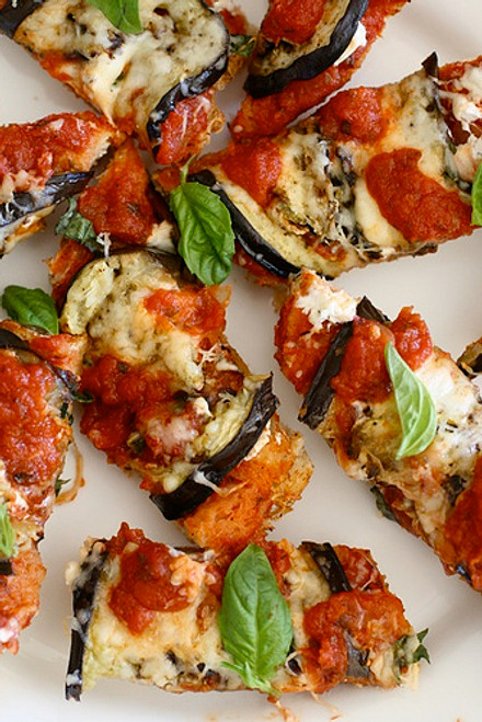 Eggplant Marinara Flatbread - (Free Recipe below)