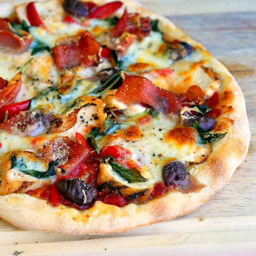 Grilled Chicken and Prosciutto Margherita Pizza - (Free Recipe below)