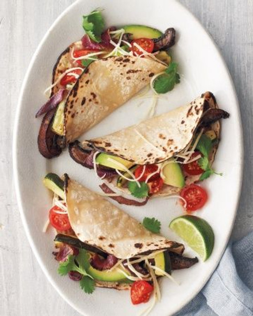 Portobello Mushroom and Zucchini Tacos - (Free Recipe below