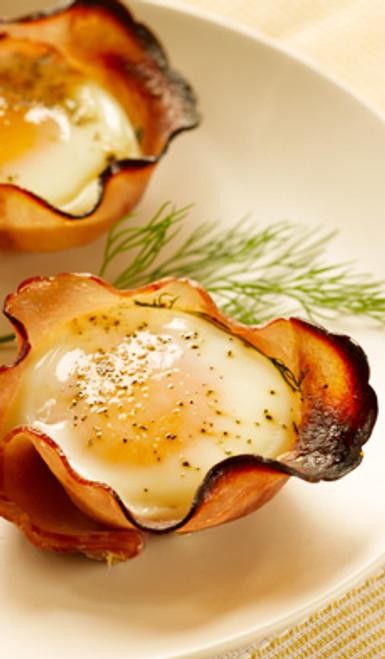 Eggs in Maple Ham Cups - (Free Recipe below)