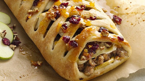 Sausage Apple and Brie Stromboli - (Free Recipe below)