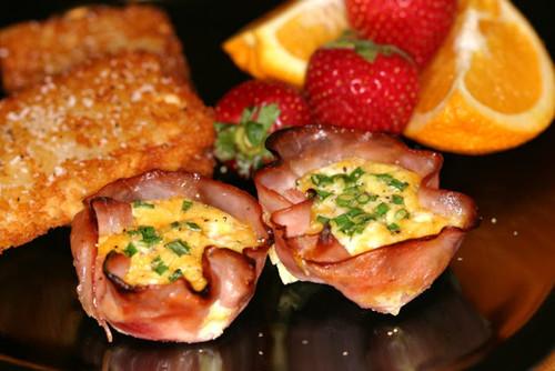 Breakfast Ham or Turkey Cups - (Free Recipe below)
