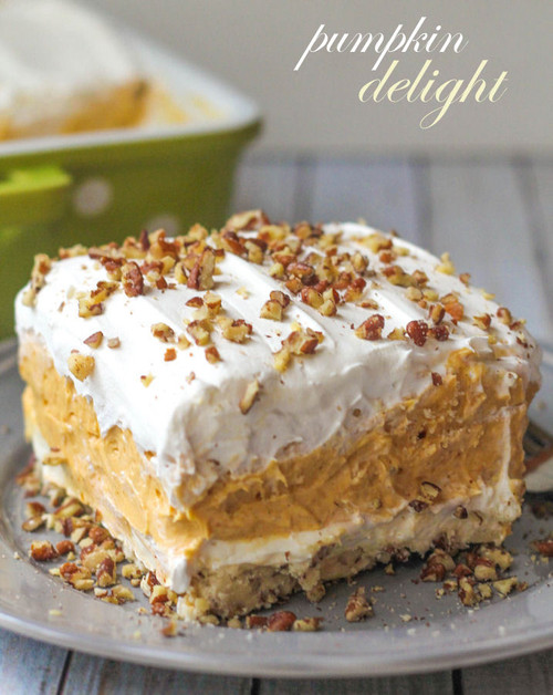 Layered Pumpkin Dessert - (Free Recipe below)
