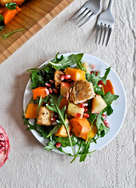 Roasted Autumn Panzanella Salad - (Free Recipe below)
