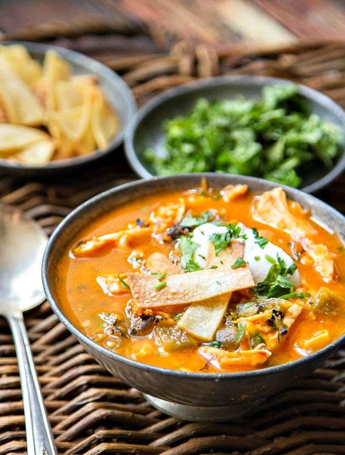 Chicken Tortilla Soup with Hatch Chiles - (Free Recipe below)