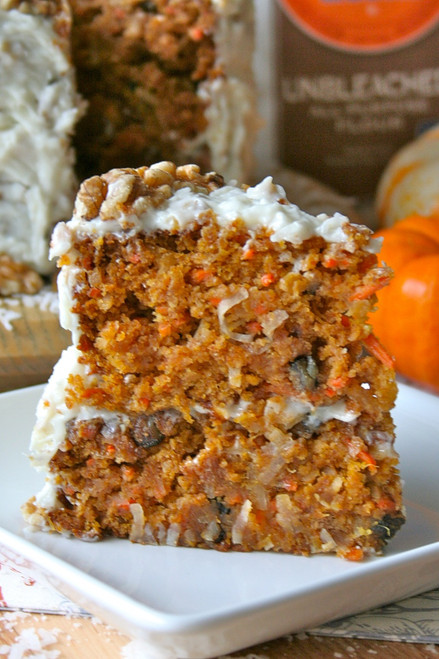 PUMPKIN CARROT CAKE - (Free Recipe below)