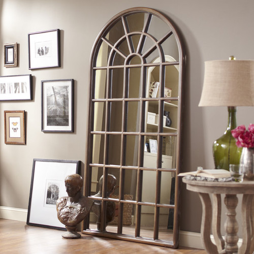 """Cathedral Style Arch Floor Mirror 83""""h"""