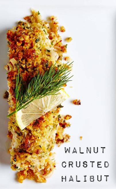 Walnut Crusted Halibut - (Free Recipe below)