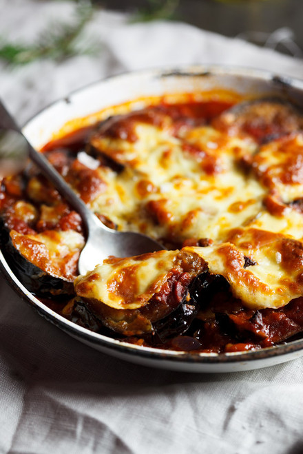 Aubergine, Tomato & Mushroom Bake - (Free Recipe below)