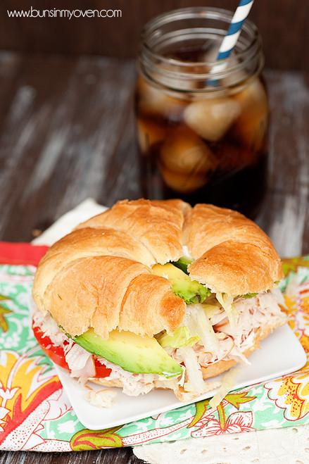 Gobbler Turkey Sandwich - (Free Recipe below)