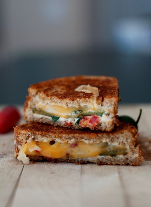 Jalapeno Popper Inspired Grilled Cheese - (Free Recipe below)