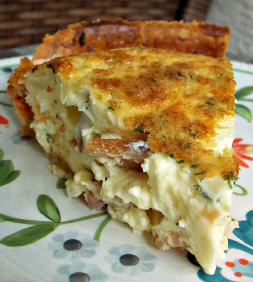 Bacon, Egg, and Cheese Quiche - (Free Recipe below)