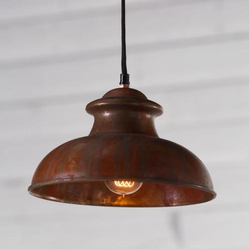 Antique Variegated Copper Pendant Light