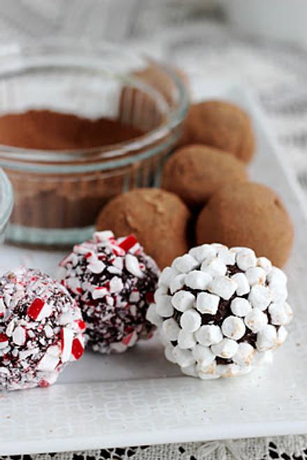 Holiday Hot Chocolate Truffles - One Dozen w/ recipe
