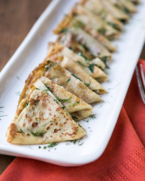Grilled Cheese Crepes with Chard and Dill - (Free Recipe below)